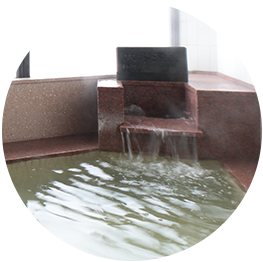 分割入浴と濡れたタオル